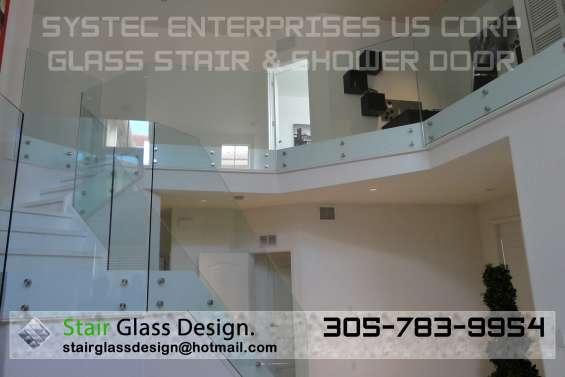 ? glass stairs - glass steps - glass railing - glass step - glass door - shower door