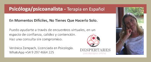 Psicóloga/psicoanalista- terapia en español