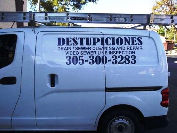 Miami destupiciones, drain cleaning, 305 300 3283