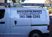 MIAMI DESTUPICIONES, DRAIN CLEANING,  305 300 3283
