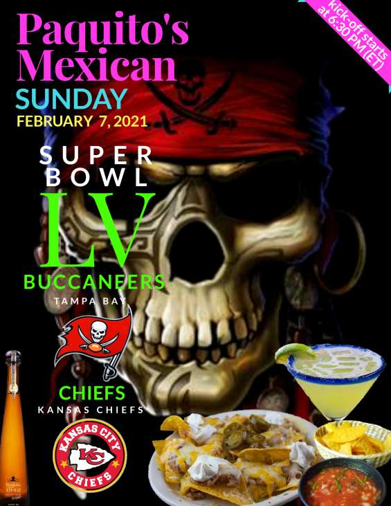 Join us, the 55th super bowl.. kick-off starts at 6:30 pm et