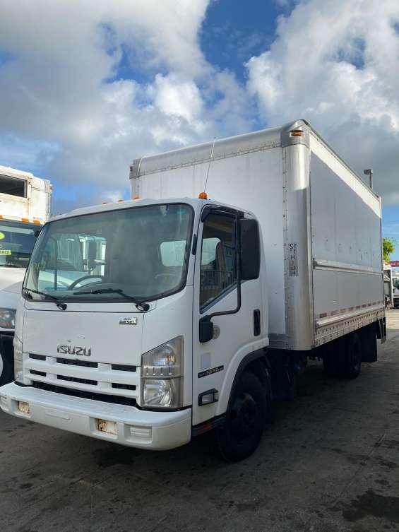 2012 isuzu npr 16ft dry box stock 1717